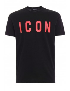 Camiseta dsquared ICON - black/red