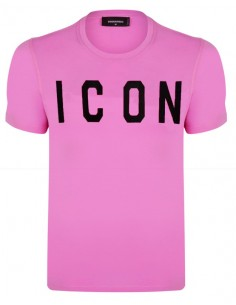 Camiseta dsquared ICON - pink/black
