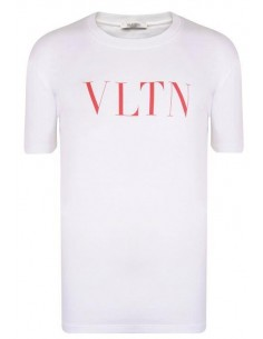 Valentino camiseta para hombre VLTN blanca