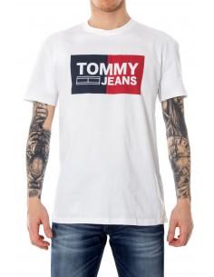 Camiseta Tommy para hombre logo iconic - blanca