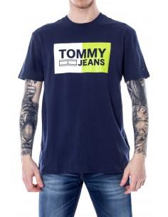 Camiseta Tommy para hombre logo iconic - marino