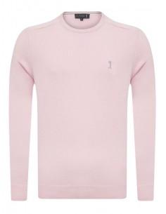 Jersey Sir Raymond Tailor cuello redondo - rosa palo