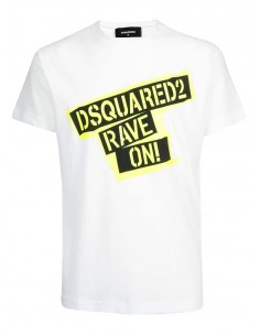 Camiseta dsquared rave on - blanca