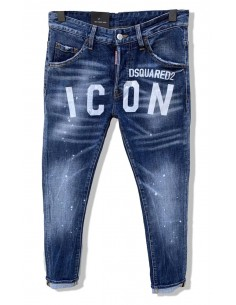 Vaqueros Dsquared para hombre regular slim MAXILOGO - blue