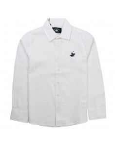 Beverly hills polo club - camisa niño blanca