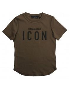Dsquared camiseta niño verde militar