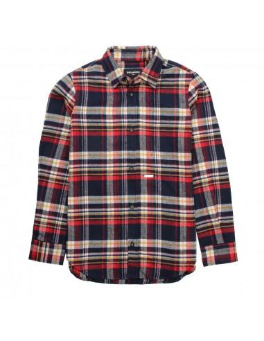 Dsquared camisa para niño de cuadros leñador