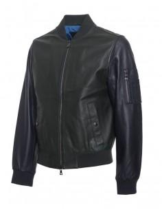 Tommy Hilfiger chaqueta bomber para hombre en piel bitono