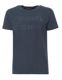 Trussardi camiseta para hombre vintaje navy