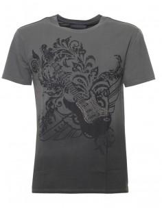 Trussardi camiseta para hombre pedrería - grey