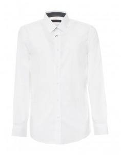 Camisa Trussardi de corte slim popeline stretch- blanca