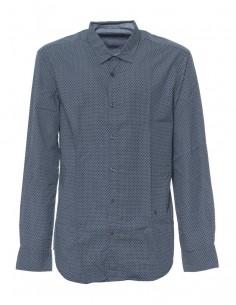 Camisa Trussardi de corte slim popeline geometric print - azul
