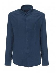 Camisa Trussardi de corte slim micro check - azul