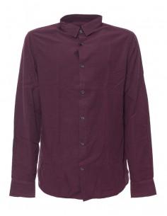 Camisa Trussardi de corte slim micro check - burdeos
