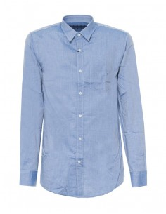 Camisa Trussardi para hombre de manga larga color celeste