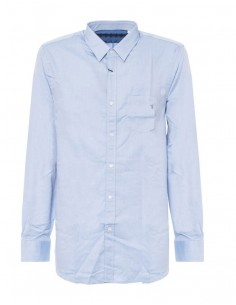 Camisa Trussardi para hombre de manga larga color azul claro