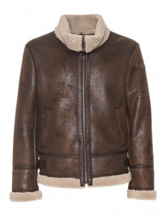Chaqueta Trussardi para hombre eco shearling color marrón