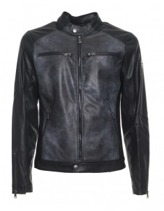 Guess chaqueta motera para hombre en piel sintética