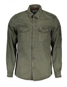 Camisa Guess para hombre informal - verde militar