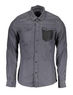 Camisa Guess para hombre en denim gris