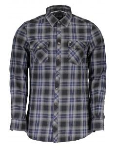 Camisa Guess para hombre en cuadros gris y azul
