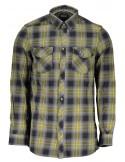 Camisa Guess para hombre en cuadros gris y verde