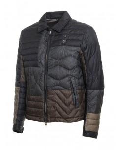 Blauer chaqueta para hombre con cuello - tricolor