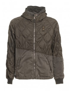 Blauer chaqueta combinada para hombre con capucha - kaki