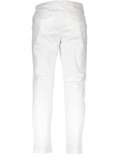 Trussardi pantalón tipo chinos para hombre - blanco