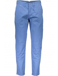 Trussardi pantalón tipo chinos para hombre - azul