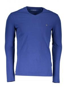camiseta-guess-para-hombre-manga-larga-azul