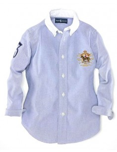 Camisa oxford classic logo woman blue