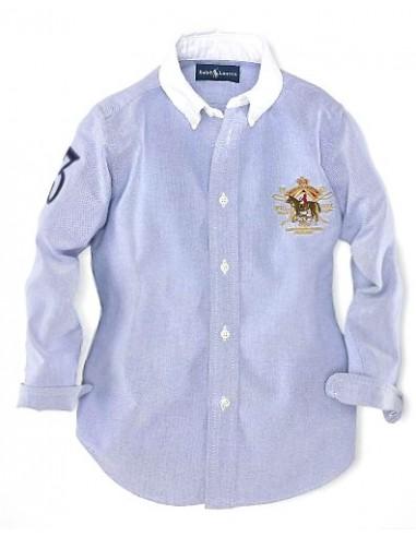 Camisa oxford classic logo woman blue
