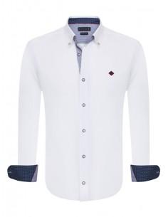 TALLA XL Sir Raymond Tailor camisa para hombre WRAPPED - blanca