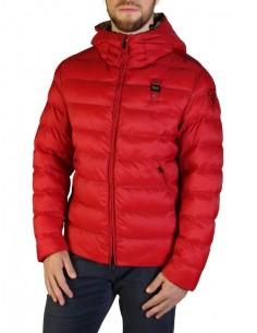 Blauer chaqueta acolchada para hombre - roja