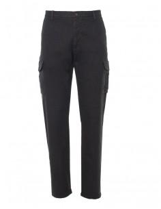 Gant - pantalón herrngbone cargo negro