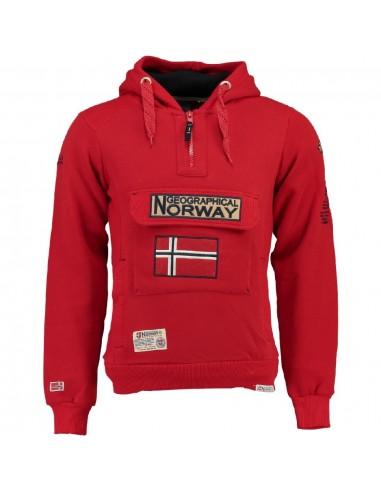 Geographical Norway sudadera NIÑO - GYMCLASS roja