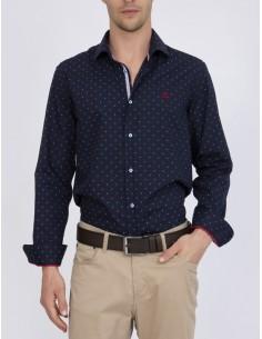 Sir Raymond Tailor camisa para hombre marino con estampado