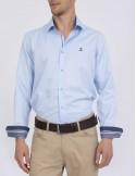 Sir Raymond Tailor camisa para hombre celeste microtextura