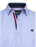 Sir Raymond Tailor camisa para hombre celeste diplomática