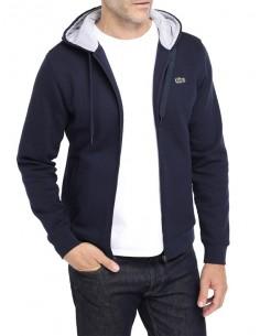 Lacoste chaqueta sport hombre con capucha y cremallera - marino