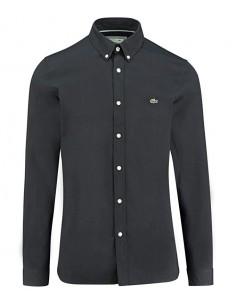 Lacoste camisa para hombre en algodón - negra