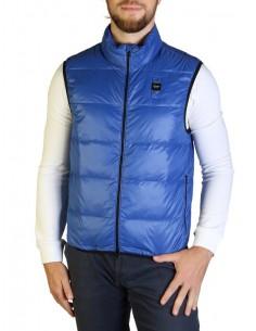 Blauer chaleco cacolchado para hombre - azul