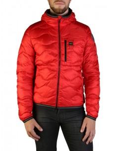 Blauer chaqueta acolchada para hombre - rojo