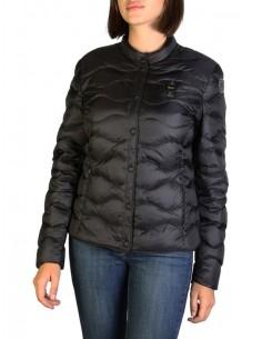 Blauer chaqueta acolchada para mujer - negra