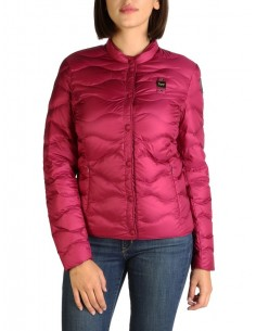 Blauer chaqueta acolchada para mujer - rosa