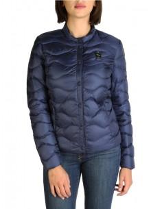 Blauer chaqueta acolchada para mujer - marino