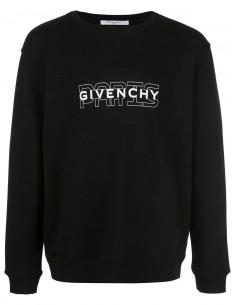 Givenchy sudadera hombre logo frontal - negra
