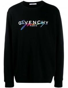 Givenchy sudadera hombre logo colores frontal - negra