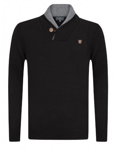 Sir Raymond Tailor jersey para hombre cuello smoking - negro